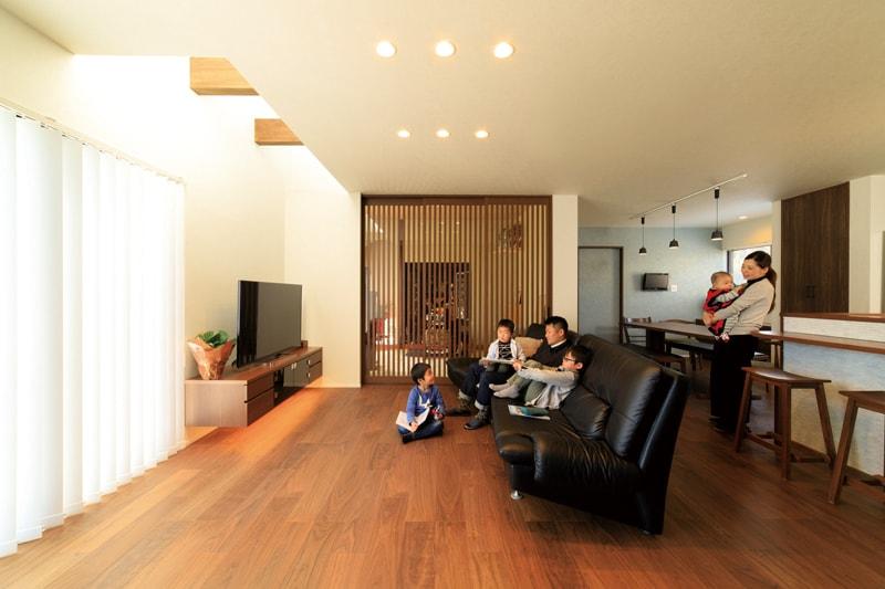 【石橋工務店】<br>つなぐのは、4世代の輪<br>光と笑顔があふれる家族空間