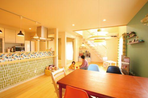 【中川建設】<br>ママを笑顔にする家。<br>子育てが楽しく<br>家事も楽々の快適設計