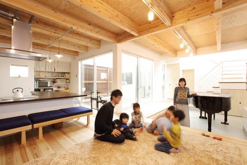 【山内住建】<br>家族の笑い声と温かな音色が<br>優しく響く「ソラマドの家」